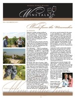 "Middle Ridge Winery Newsletter ""WineTalk"" Fall, 2010"