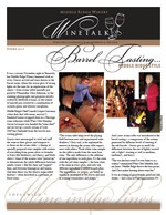 "Middle Ridge Winery Newsletter ""WineTalk"" Spring, 2012"
