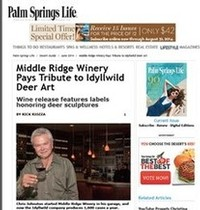 We are the cover article in Palm Springs Life