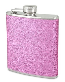 Wine Flask - Pink Sparkle