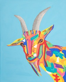 Ernie the Pop Art Goat