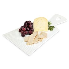 Cheese Board, White Ceramic